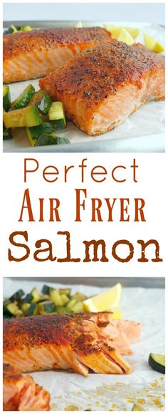 I would have never guessed making salmon in an air fryer would have produced the most tender and juicy salmon every time. I promise this Perfect Air Fryer Salmon will become your new way to conquer salmon in the kitchen from NoblePig.com.