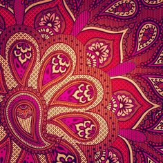 Patternatic - manda-x-panda: Indian Summer! Indian Patterns, Textile Patterns, Textile Prints, Print Patterns, Textiles, Lino Prints, Block Prints, Art Prints, Paisley Art