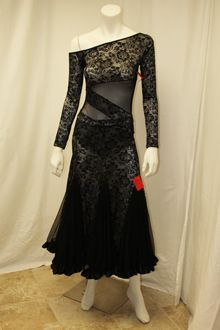 Black Lace Tango Dress (Style #S96) :: Shall We Dance Designs