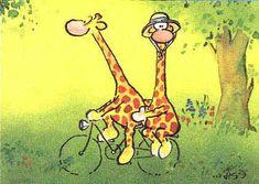 Mignonnes illustrations de L.J.V /Olaf la giraphe