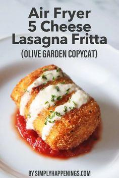 Fried Lasagna, Cheese Lasagna, Lasagna Noodles, No Noodle Lasagna, Air Fryer Oven Recipes, Air Frier Recipes, Air Fryer Dinner Recipes, Yummy Appetizers, Appetizer Recipes