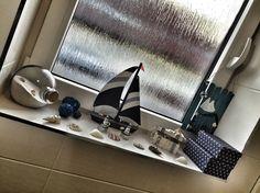 Beautiful home style navy sailor blue anchor my bathroom