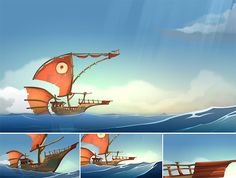 This is a selection of my work on Wafku, the animated serie created by Ankama.