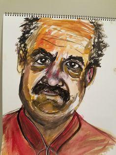 Watercolor of my Dad, Bob Perry.