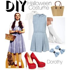 dorothy diy costume by patricia7 on polyvore - Dorothy Halloween Costume Women