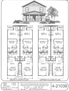 Inside not bad, would change the roof, location of the downstairs suite doors and facade Duplex Floor Plans, Small House Floor Plans, Apartment Floor Plans, House Plans And More, Family House Plans, Cottage House Plans, Craftsman House Plans, Country House Plans, Dream House Plans