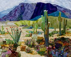 Desert in Bloom...paintingwithfabrics dir  by My Aunt Jeanine Malaney Absolutely Love This One!!!