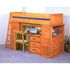 The Bunkhouse Collection by Trendwood is solid and dependable. Crafted of select solid pine with a warm cinnamon finish this group is attractive and built to stand the test of time. Choose from many bed configuartions and matching storage options. Bunkhouse is made with pride in the U.S.A. for active lifestyles!