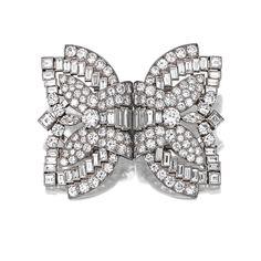 DIAMOND DOUBLE-CLIP BROOCH, CARTIER, CIRCA 1930