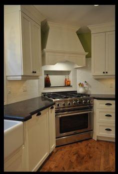 oven in corner of kitchen