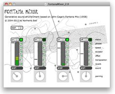 Fontana Mixer - Generative Sound Environment based on John Cage's Fontana Mix 1958