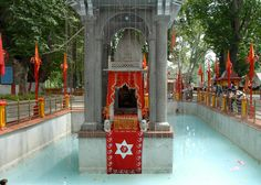 The Kheer Bhavani temple is situated at Tullamula in the Srinagar district. Kheer Bhavani temple is devoted to Ragnya Devi, a Hindu Goddess. Representing the goddess is a sacred hexagonal spring at Tullamula village, which houses a small marble temple.