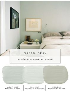 Our the coco kelley Guide to the Best Neutral Paint Colors that AREN'T White | Green Grays(Best Paint Colors)