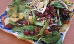 Grapes and Greens Salad with Skinny Balsamic, 2 weight watchers points plus