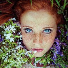 FACT: Red hair & blue eyes is the rarest combination in the world!   ( Photo Credit: Angelica Photography )