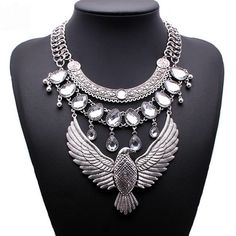 Boho Statement Necklace Gorgeous Boho Bird Statement Necklace 🔸 Materials: Silver-tone Base Metals, Rhinestones 🔸 Nickel & Lead Free 🔸 Condition: New Jewelry Necklaces