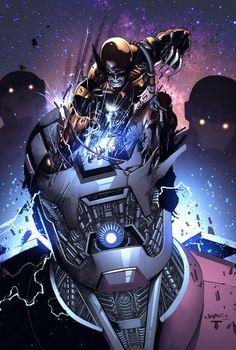 Wolverine vs Sentinels - by Jimbo Salgado