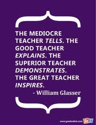 The mediocre teacher tells...this could apply to coaches as well.