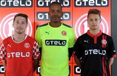 Fortuna Düsseldorf 2014/15 Home, Away and Third Kits