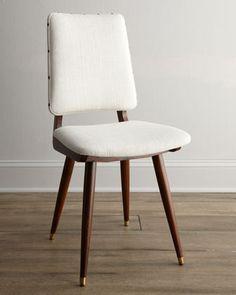"""""""Joellen"""" Linen Chair by Jonathan Adler at Horchow."""
