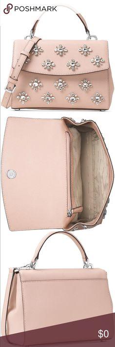"Michael Kors leather handbag Brand new with tag. Dimension: 5.5"" H x 7.5"" W x 3"" D. No trades 🌷 Michael Kors Bags Satchels"