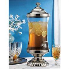 Fall Wedding Splendor! Crystal and Silver Plated Beverage Dispenser for $89.99
