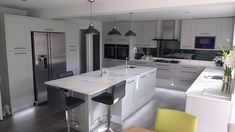 Fitzroy Partridge Grey Kitchen fitted in Bedfordshire