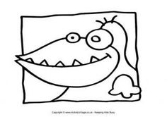Monster Colouring Page 24