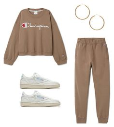 """weekday x champion"" by karolinebaysjoegren ❤ liked on Polyvore featuring Champion, H&M, Reebok, weekday and weekdayxchampion"