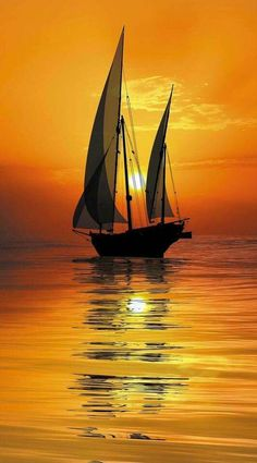 Wallpaper of boat & yacht sailing at ocean and sea Pictures To Paint, Nature Pictures, Boat Art, Ocean Sunset, Hawaiian Sunset, Sunset Photography, Photography Tips, Wedding Photography, Beautiful Sunset