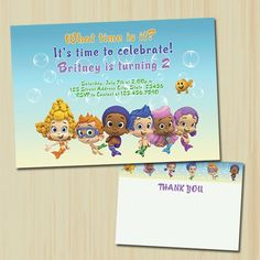 Bubble Guppies Birthday Invitation  | partytimedecor - Cards on ArtFire
