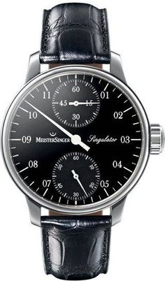 MeisterSinger Watch Singulator #360-image-yes #bezel-fixed #bracelet-strap-leather #brand-meistersinger #case-material-steel #case-width-43mm #delivery-timescale-1-2-weeks #dial-colour-black #gender-mens #luxury #movement-manual #official-stockist-for-meistersinger-watches #packaging-meistersinger-watch-packaging #style-dress #subcat-singulator #supplier-model-no-sim102-croco-print-black #warranty-meistersinger-official-2-year-guarantee #water-resistant-50m
