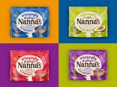 New #plastic #packaging for Nanna's: the company's logo swims in a stylized apple with a scalloped edge while a photograph of the dessert is placed on the right-hand corner to entice.
