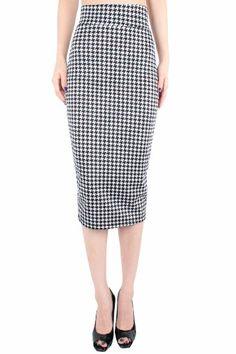 LeggingsQeen High Waist Stretch Basic Pencil Skirt -Made in USA (Small, Black N White Print) LeggingsQueen,http://www.amazon.com/dp/B00G6SH55S/ref=cm_sw_r_pi_dp_6WHPsb0EHGMQAARZ
