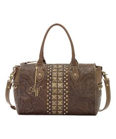 Look what I found on #zulily! Earth Brown High Noon Convertible Leather Satchel #zulilyfinds