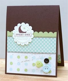 Stamps: So Many Scallops Paper: Chocolate Chip textured, Certainly Celery, Whisper White, Thrift Shop dp by October Afternoon, Scenic Rout...