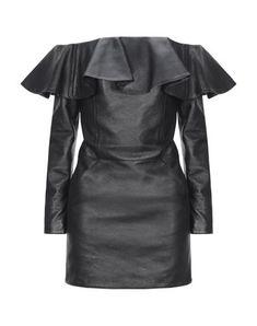Dress For Short Women, Short Dresses, Saint Laurent, Ysl Heels, Dress Drawing, Leather Dresses, Tube Dress, Winter Collection, Clothes For Women