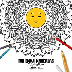 Fun Emoji Mandalas - Coloring Book - Volume Cute mandala designs combined with funny emoji. Fun way to relive stress and anxiety. Funny Emoji, Mandala Design, Stress And Anxiety, Coloring Books, Amazon, Cute, Mandalas, Vintage Coloring Books, Amazons