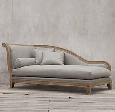 Chaises, Settees & Daybeds | Restoration Hardware - Couldn't afford it but I like the design and the lines.