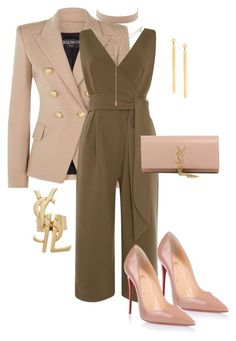 """Untitled #96"" by candicegeorge on Polyvore featuring Balmain, Lost Ink, Christian Louboutin, Yves Saint Laurent, Jennifer Zeuner, Tacori and Lana"