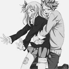 Nalu ( hug) || Natsu Dragneel x Lucy Heartfilia || Fairy Tail
