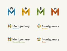 design work life » cataloging inspiration daily; Montgomery logo system