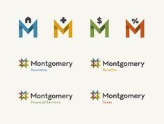 Montgomery / design logo typography iconography