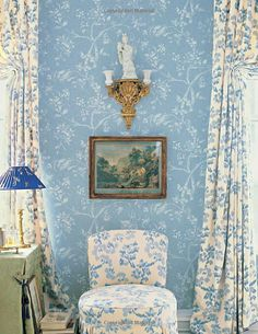 Charlotte Moss - Design- my all time favorite wallpaper and fabric not sure if bracquenie or her brunschwig pattern daydream