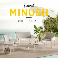#Comfy This is amazing! Grand Minush is an elegant chair and sofa collection, developed with contemporary lifestyles and intended for relaxing moments. #designchair #wearecontract www.gaber.it