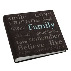 "Pioneer ""Family"" Text Design Sewn Faux Suede Cover Photo Album, Brown, http://www.amazon.com/dp/B004ARTGKO/ref=cm_sw_r_pi_awdm_NwZcwb0QZRCCT"