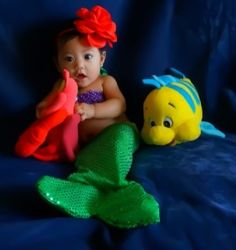 """Handmade+beautiful+little+mermaid+tail+along+with+a+crochet+top+adorned+with+pearls!+Perfect+for+pictures,+baby+showers,+gift+for+any+princess!    Choose+your+size!    Newborn:+13""""+waist  0-3mo+14""""+waist  3-6mo+15""""+waist  6-9mo+16""""+waist+  12mo+17""""+waist  +Or+customize+your+size!+These+are+standa..."""