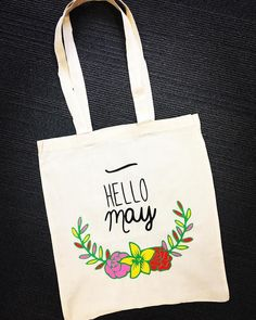 Hello May ! ☀️🌺🌈 #totebag #flowers #colors #spring