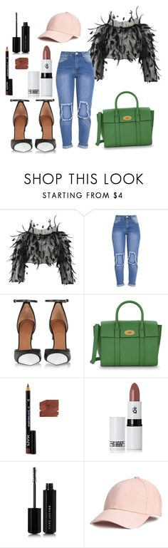 """""""5.8.1"""" by frstf ❤ liked on Polyvore featuring Oscar de la Renta, Givenchy, Mulberry, NYX, Lipstick Queen and Marc Jacobs"""