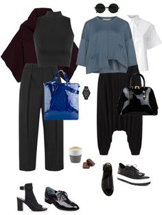Pair two architectural pieces to create an easy to wear avant-garde outfit. Paris Fashion, Autumn Fashion, You Look Fab, High Fashion Makeup, Mature Fashion, Classic Wardrobe, Pants For Women, Clothes For Women, Fashion Pants